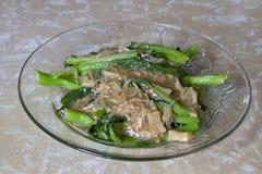 2 китайских высушенных scallops vegetable Стоковые Фото