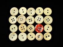 2 кнопки орнаментируют белизну Стоковые Изображения