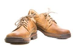 2 кожаных ботинка на белизне Стоковые Изображения RF