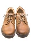 2 кожаных ботинка на белизне Стоковое Изображение RF