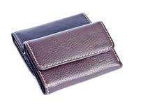 2 кожаных бумажника изолированного на белом #1 Стоковое Изображение RF