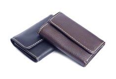 2 кожаных бумажника изолированного на белом #2 Стоковая Фотография
