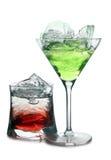 2 коктеила в льде Стоковая Фотография