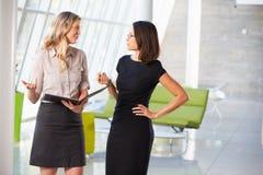 2 коммерсантки имея неофициальное заседание в самомоднейшем офисе Стоковые Изображения RF