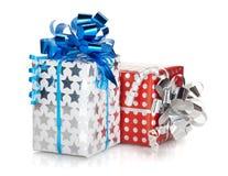 2 коробки подарка рождества Стоковое фото RF