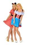 2 красивейших белокурых женщины в costumes масленицы Стоковые Изображения