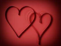 2 красивейших бумажных сердца Стоковое Фото