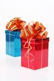 2 красивейших коробки подарка Стоковая Фотография