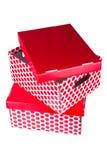 2 красных коробки Стоковая Фотография