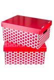 2 красных коробки Стоковое Изображение RF