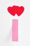 2 красных сердца Стоковая Фотография