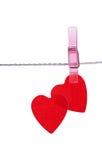 2 красных сердца Стоковая Фотография RF