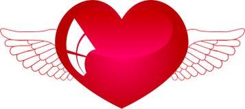2 крыла сердца Стоковые Фото