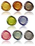2 крышки бутылки Стоковые Фотографии RF