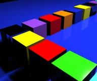 2 кубика Стоковое Изображение RF