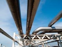 2 линия нержавеющая сталь трубы Стоковая Фотография RF