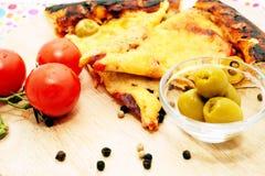 2 ломтика пиццы Стоковое Изображение RF