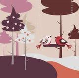 2 любящих птицы Стоковые Изображения