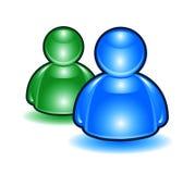 2 люд msn иконы Стоковое Изображение RF