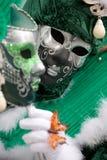 2 маски и бабочка стоковые фото