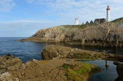 2 маяка на высоких скалах Стоковое фото RF