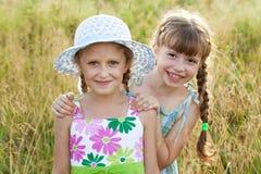 2 милых голубых девушки Стоковая Фотография