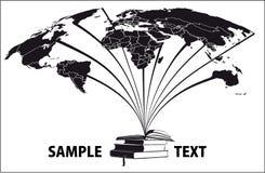 2 мира книг Стоковые Фото