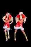2 молодых красивейших женщины в платьях Стоковое Фото