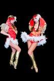 2 молодых красивейших женщины в платьях Стоковое Изображение