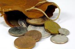 2 монетки мешка Стоковые Фото