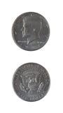 2 монетки половинных доллара Стоковое Изображение