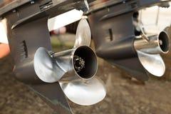2 мотора внешних шлюпки Стоковая Фотография RF