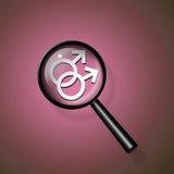2 мыжских символа Стоковое фото RF