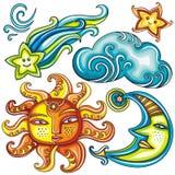 2 небесных символа Стоковое фото RF