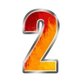 2 номер два пламен алфавита иллюстрация штока
