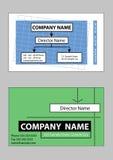 2 образца конструкции визитной карточки иллюстрация штока