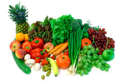 2 овоща плодоовощей расположения Стоковое Изображение