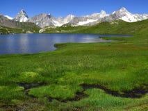 2 озера fenetre alps европейских Стоковое фото RF
