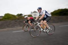 2-ой метод sync укладки в форме вспышки велосипедиста занавеса Стоковые Изображения RF