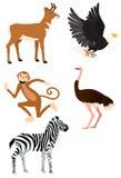 2 одичалого иконы животных установленных Стоковые Изображения