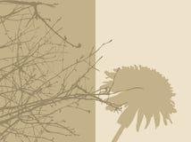 2 панели листва иллюстрация вектора