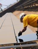 2 панели установки солнечной Стоковое Фото