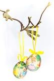 2 пасхального яйца ветви Стоковые Изображения