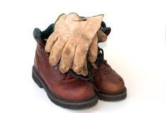 2 перчатки ботинок Стоковые Фото