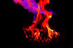 2 пламени стоковая фотография rf