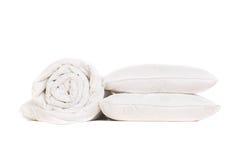 2 подушки и duvet Стоковые Фотографии RF