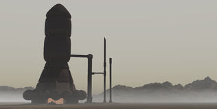 2 покинутая электростанция Стоковое Фото