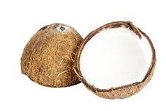 2 половины кокоса Стоковое Изображение