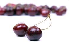 2 помадка изолированная вишнями красная Стоковое Изображение RF