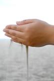 2 понижаясь серии песков Стоковая Фотография